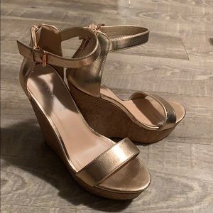 Rose Gold Platform Wedges